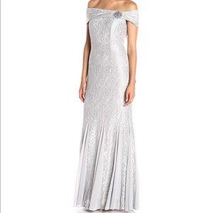 Alex Evening Platinum Dress